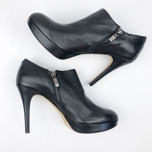Vince Camuto Elvin Black Heeled Booties Size 7